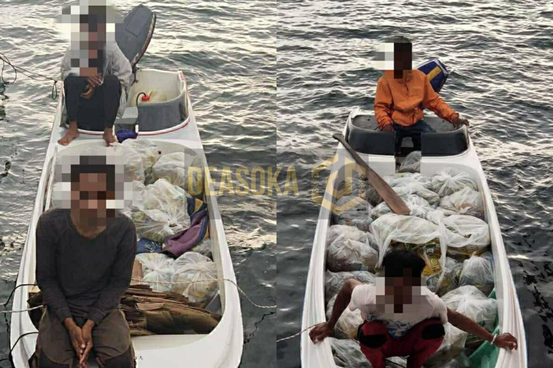 Maritim Malaysia tahan 3 lelaki Palauh, cuba seludup keluar minyak masak