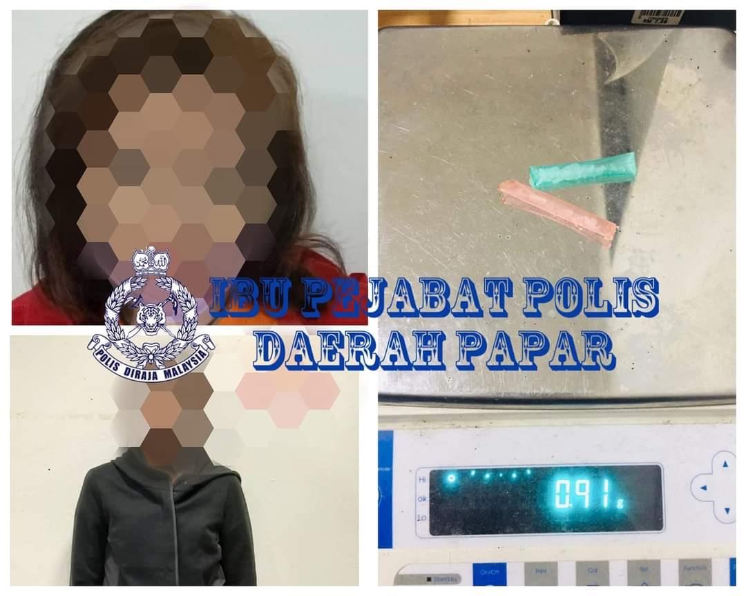 Dua penagih wanita ditahan
