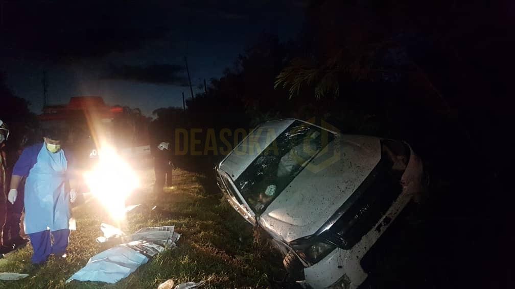Pemandu maut selepas kenderaan terbabas