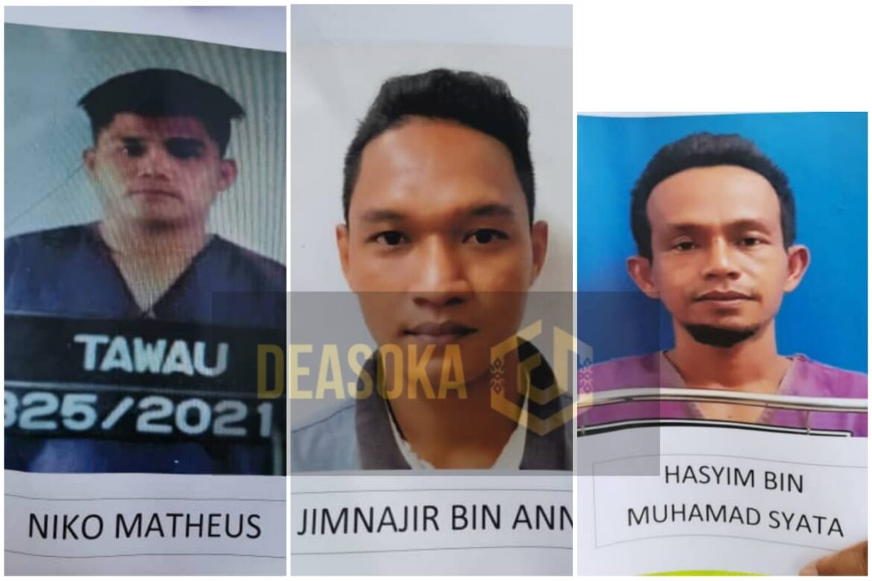 Tiga individu termasuk banduan larikan diri dari PKRC Tawau