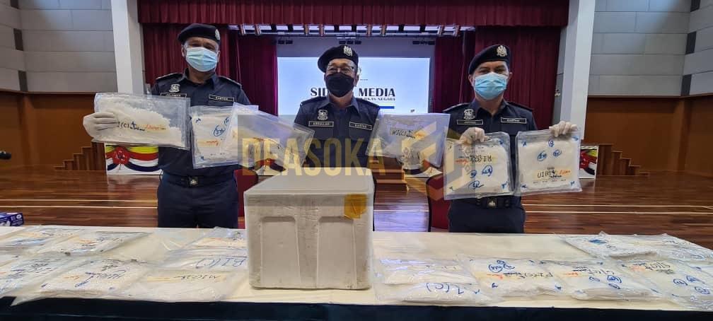 Kastam rampas dadah dalam polisterin ikan sejuk beku bernilai RM501,025