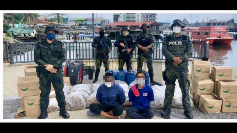 Dua ditahan, cuba seludup minyak masak bernilai hampir RM30,000