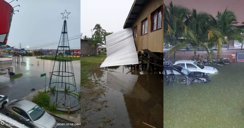 Banjir kilat dan angin kencang sekitar Kota Kinabalu, Penampang, Kimanis dan Papar